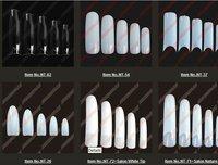 wholesale 100pcs/box&500pcs/bag Natural French Nail Tips False Acrylic Nail Art Tips NT-83/82/85
