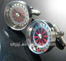 Fashion gamble machine cufflinks