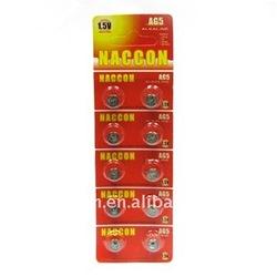 AG5 Alkaline button cell, 1.5v 52mAh