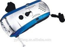 outdoor AM/ FM radio flashlight dynamo led torch light radio light manufacturer with BSCI