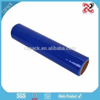blue thick machine grade cast lldpe stretch film jumbo roll