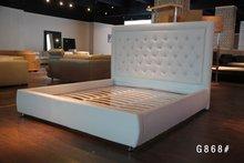 luxury hotel white diamond headboard bed
