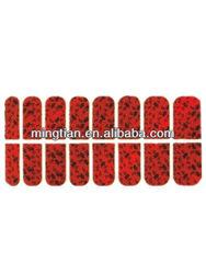 PVC material full finger nail sticker