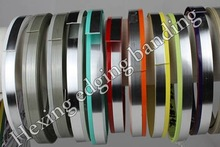 ABS two color edge banding with solid color and silver color for high quality kitchen cabinet