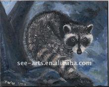handmade wild kids animal oil painting on canvas