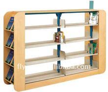 beautiful library bookshelf/high quality school furniture