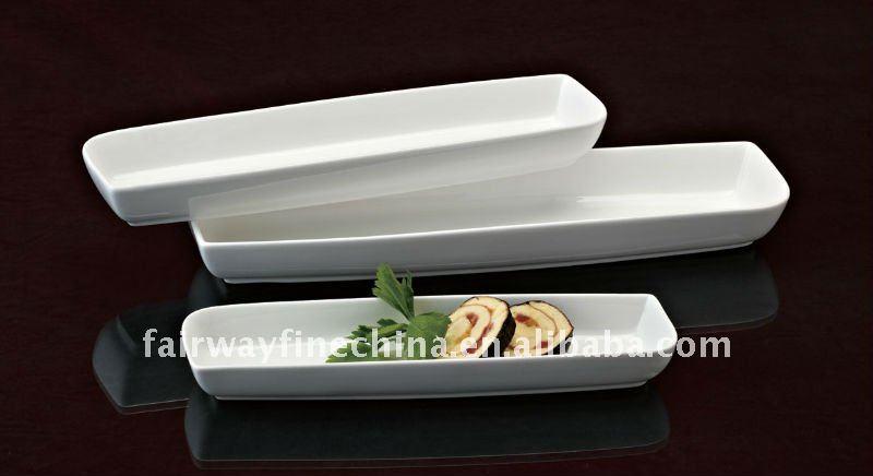 Durable porcelana plato de Sushi
