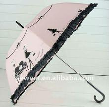 printed straight pretty ladies umbrella