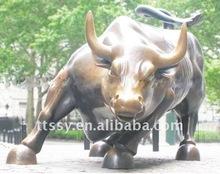 Wall street bull bronze staue sculpture