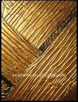 latest heavy texture golden oil painting