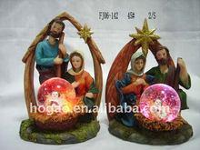 Christmas gift snow globe with light