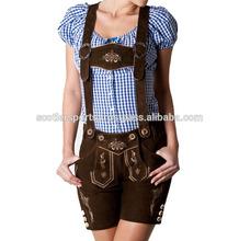 Ladies Sexy Bavarian Oktoberfest Trachten Lederhosen Shorts