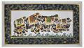 indiana artesanal design elefante decoração da parede em miniatura artesanal étnica pintura em seda home decor arte