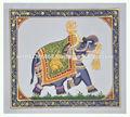 indiana artesanal design elefante decoração da parede em miniatura artesanal étnica pintura em seda home decor arte azul