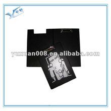 A4 PVC en cuir presse-papiers avec couvercle