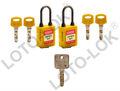 Loto lok 3 PTP lucchetti di sicurezza, chiave diverse + chiave master, non conduttivo grillo