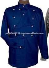 civil war Navy Blue Cotton Bib Front Shirt