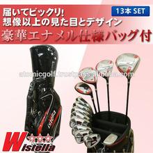 [golf clubs with bag] Wistella golf club set 13pc(1W,3W,5W,UT,5-SW,PT)with bag