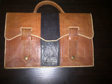 Cow Skin Leather Messenger Bag For Men