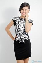 Digital sublimation printed lady dress