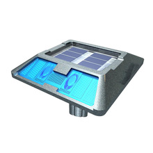 Aluminum Waterproof IP68 Solar Powered (Charging) LED & ReflectiveRoad Stud (Cat Eyes / Pavement Marker) MS-200D(Anchor Type)