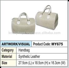 lady pu handbag (white)