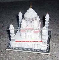 New 2015 Big Marble Taj Mahal Replica Miniature Hand Carved Decorative Taj Mahal Model