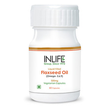 High Quality Flaxseed Oil Capsule - Extra Virgin Cold Pressed Oil - Vegetarian Capsule (GMP Certified)
