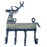 Reindeer Shape Key Holder With four Key Hooks