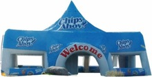 Inflatable tent 14 * 7 m with big top