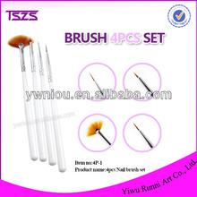 4pcs nail art brush Set /Nail Painting Pen Brush Set