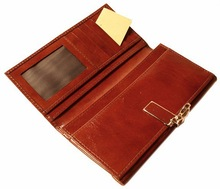 Promotional Leather Checkbook Case / Leather Checkbook Case With Buckle Strap Closure/ Classic Leather Checkbook Case