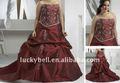 Plus size bordado novo vestido de noiva plissado