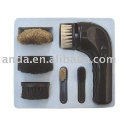 battery-operated electric shoe brush/shoe polisher