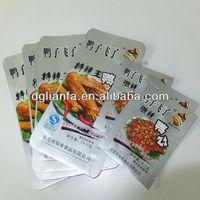 Snack aluminum foilvacuum plastic bag for chicken wing packaging/ aluminum foil plastic bag
