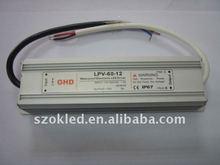 12V, 24V 60W Waterproof led power supply