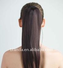 black ponytail hair weft