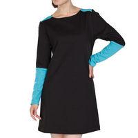 YIGELILA Ladies women panel long sleeves winter casual dress