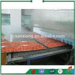 Prepared Food or Sea Food Tunnel Freezer