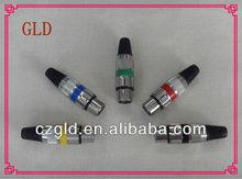 Manufactory of Male for 3p xlr plug xlr(M)3pins