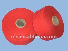 red cotton yarn waste