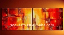 handmade modern decorative group abstract oil paintings