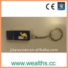 promotional gift usb Custom logo key ring usb flash disk