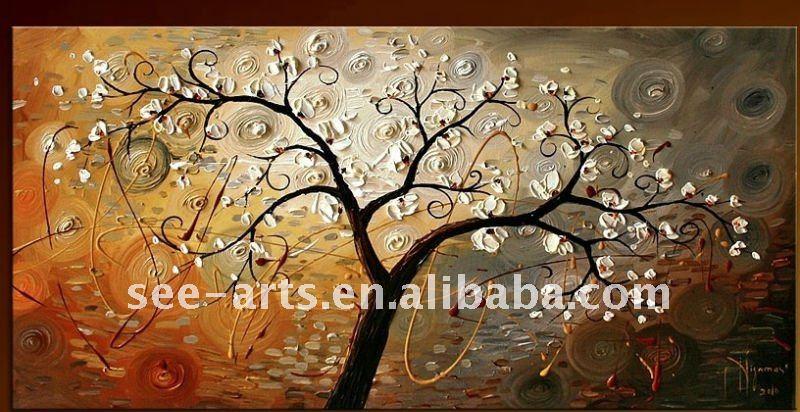 pinturas abstractas de árboles modernos-Pintura y Caligrafia ...
