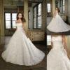 Stylish Custom Made Rose Ball Gown Strapless Sleeveless Wedding Dress ML-A160