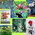 Lienzo de laimagen de la flor pinturas/moderno flor de pinturas de arte/lienzo flor pinturas al óleo