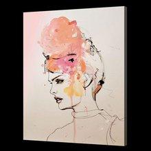 100% Handmade abstract portrait