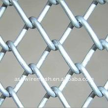 De acero inoxidable de la cadena cerca del acoplamiento de la tela factroy