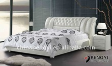 TOP sales malaysia soft leather bed bedroom furniture PY-636C