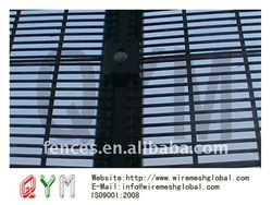 High security/military Hot dipped galvanized and pvc coated wire mesh dog fence